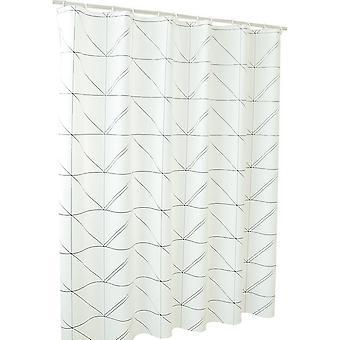Rideau de douche blanc triangulaire imperméable peva