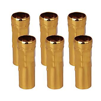 25mm Dia Golden Chandelier Socket Cover Sleeves Set of 6