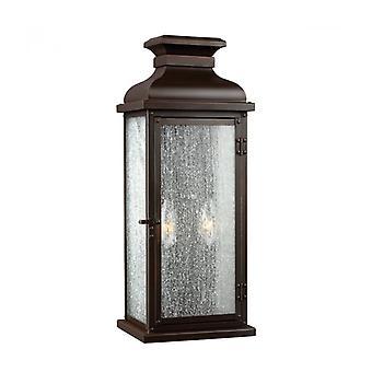 Linterna De Frontón, 46 Cm, Cobre Envejecido, Vidrio Desgastado, Ip44
