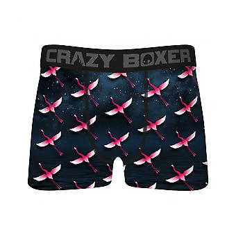 Crazy Boxers Flamingos Flying All Over Print Boxer Briefs