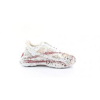Zapatos Mujer amor Moschino zapatilla inferior cuña corriendo cuero blanco / mezcla. D20mo32