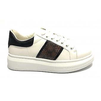 Women's Sneakers With Wedge Gold&gold Ecopelle White/ Black D20gg58
