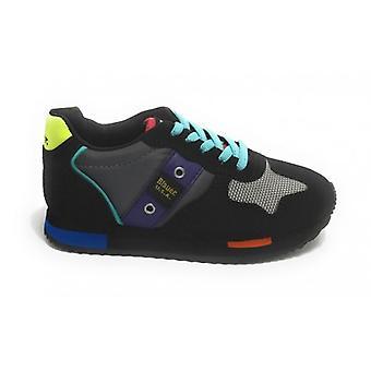 Shoes Blauer Sneaker Dash In Ecosuede Black/ Nylon Multicolor Z21bu01