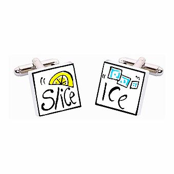 Ice and Slice Cufflinks par Sonia Spencer