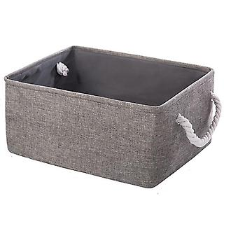 New Folding Storage Basket Foldable Linen Storage Box Bins Fabric Organizer