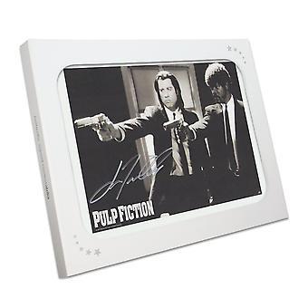 John Travolta Pulp Fiction Firmato Poster: Intervento Divino. Nella confezione regalo