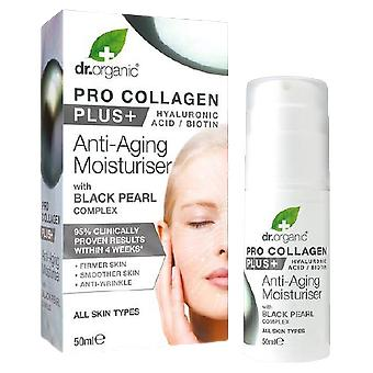 Dr. Organic Crema Antiedad pro Collagen Plus y Perla negra 50 ml