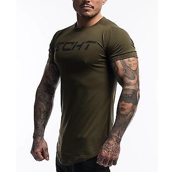 Gym Fitness Camiseta de algodón, camiseta de Men Running Sports