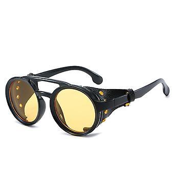Steampunk Hiking Sunglasses, Men Round Punk Sun Glasses