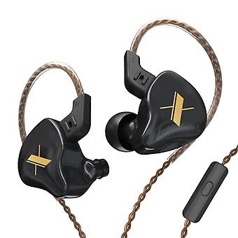 KZ EDX 1DD Earbuds with Microphone and Music Management - 3.5mm AUX Earpieces Wired Earphones Earphone Black
