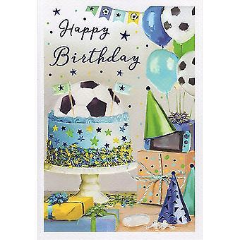 ICG Ltd Open Birthday Card Essence Range - Football Cake