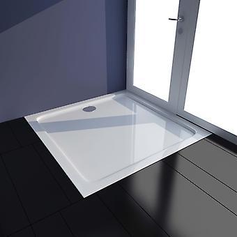 vidaXL Shower tray ABS White 80×80 cm