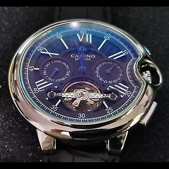 Herren Gürteluhr, automatische mechanische Armbanduhr, Skelett Sport, männliche Uhren