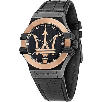 Maserati R8851108032 Men's Black Strap Potenza Wristwatch