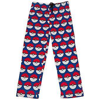 Pokemon Pokeballs kaikkialla Print Pyjama Sleep Housut