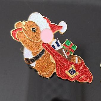 Regalos masónicos navideños temporada solapa pin