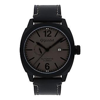 Gigandet G16-007 - Montre pour homme, bracelet en cuir, couleur: noir