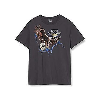 Lee Biker Tee T-Shirt, Washed Black, XL Men's