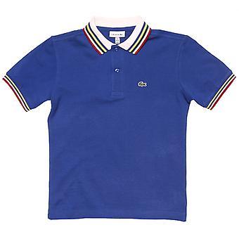 gutt 's lacoste spedbarn tippet polo skjorte i blått