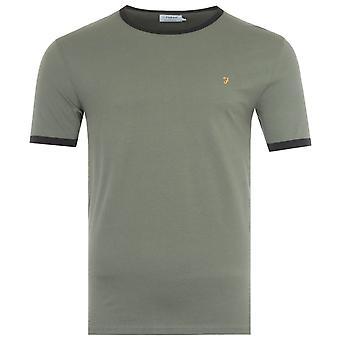 Farah Groves Slim Fit Ringer T-Shirt - Military Green