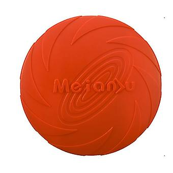 L 22cm red dog flying disc toy 5.9/7.1/8.7inch,pet training rubber frisbee,floating water dog toy interactive toys az7976