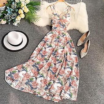 Ftlzz Floral Dress With V-Neck