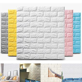 3D muursticker 10 stuks imitatie baksteen slaapkamer decoratie waterdichte zelfklevend behang voor woonkamer keuken tv achtergrond