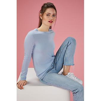 Loop Cashmere Crew Neck Sweater In Whisper
