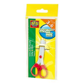 SES Creative Junior Ambidextrous Safety Scissors Activity Set