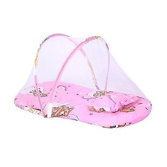 new pink 2 baby bedding crib netting folding baby mosquito nets sm20616