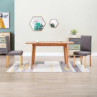 vidaXL chaises salle à manger 2 pièces tissu taupe