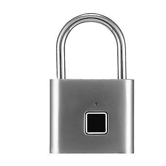 Smart fingeraftryk hængelås lille størrelse kabinet lås sovesal anti-tyveri