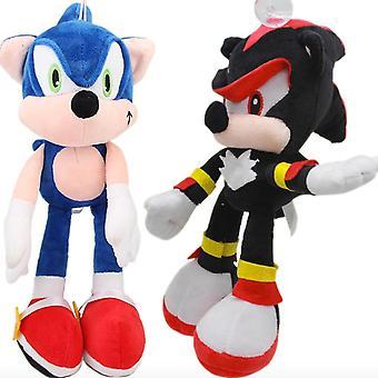 2pcs 30cm Sonic The Hedgehog Black Shadow Stuffed Plush Toy