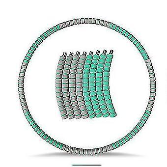 Painotettu Hula Vanne aikuisille, Laihtuminen Liikunta hula rengas ruostumattomasta (vihreä harmaa)