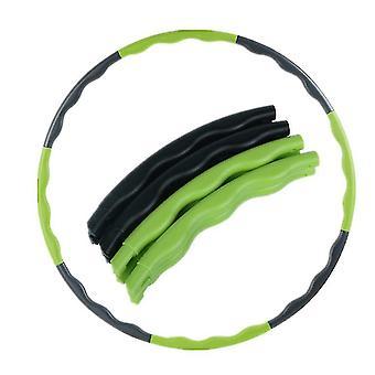 Kids Hoola Hoop,8 knots säädettävä hoola vanne urheiluun, kuntoiluun (vihreä + musta)