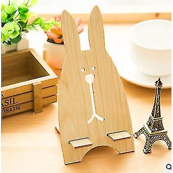 Cartoon madera universal portátil ligero conejo teléfono móvil tablet soporte de escritorio soporte de escritorio perezoso