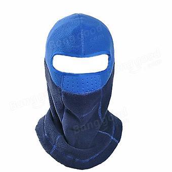 Unisex outdoor warm windproof cs fleece cap cheek mask hat riding skiing hat hood