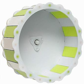 Hamster wiel speelgoed stille oefening diameter kooi bevestiging lopend wiel (groen)