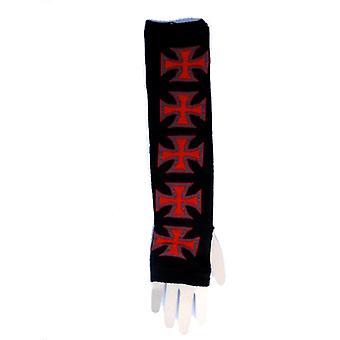 Armvärmare - Malteserkors röd och svart
