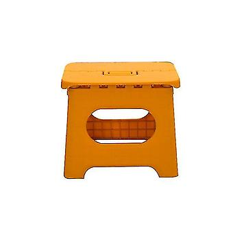 Składany stołek krokowy - premium składany stołek do pracy dla dzieci i dorosłych (żółty)