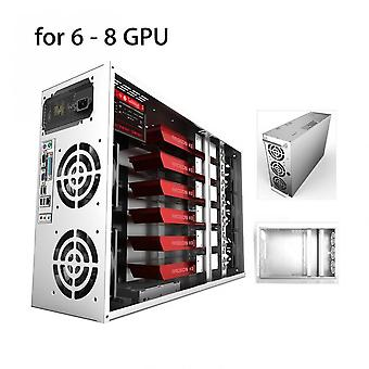 Crypto Coin Open Air Mining Frame Rig Graphics Case For 6-8 Gpu Eth 5 Fans