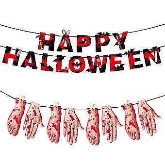 Halloween Party Decoration Kit, Bloody Banner For Halloween Spoof Horror Props Party Decoration