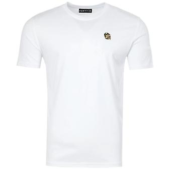 Forty Ben Camo Badge Organic Cotton T-Shirt - White
