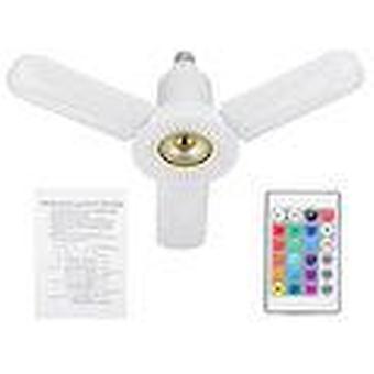 Ac85-265v e27 36w led light with bluetooth speaker remote control color change lighting folding lights