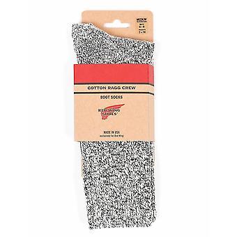 Red Wing 97167 Cotton Ragg Socks - Black/white