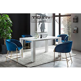 Tomasso's Potenza Dining Table - Modern - White - Metal - 0 cm x 0 cm x 0 cm