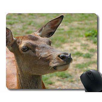 Mouse pads 220x180x3 mouse pad with brown deer -stitched edges