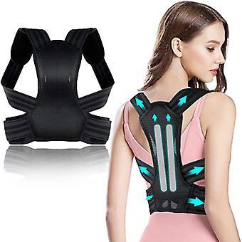 Haltungskorrektor für Männer und Frauen, Wirbelsäulen- / Rückenstütze, lindert Nacken-, Rücken- und Schulterschmerzen, Unterstützung mit weichem atmungsaktivem Kissen, Wirbelsäule gerade