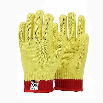 Aramide geïsoleerde werkhandschoenen niveau 5 staaldraad anti cut handschoenen