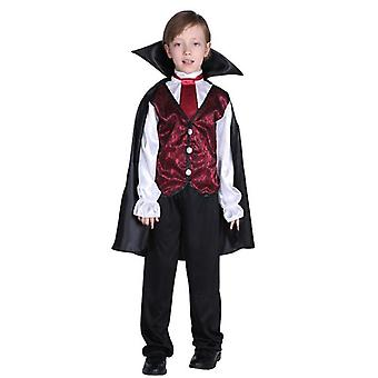 Gothic Vampire Costume Deluxe Set For Boys, Kids Halloween Party